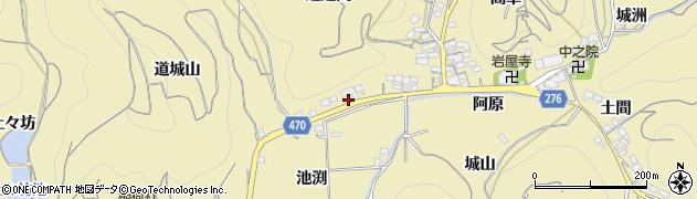 愛知県南知多町(知多郡)山海(池渕)周辺の地図