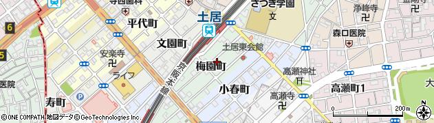 大阪府守口市梅園町周辺の地図