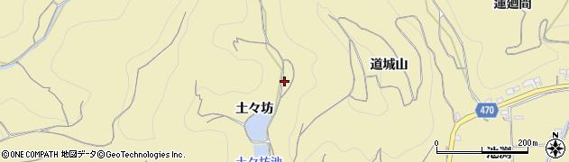 愛知県南知多町(知多郡)山海(土々坊)周辺の地図