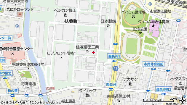 〒660-0891 兵庫県尼崎市扶桑町の地図