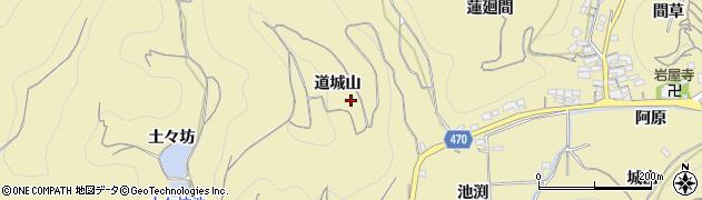 愛知県南知多町(知多郡)山海(道城山)周辺の地図