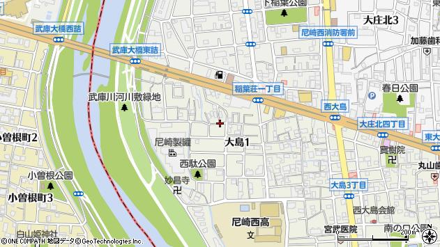 〒660-0076 兵庫県尼崎市大島の地図