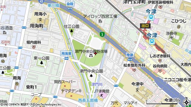 〒663-8234 兵庫県西宮市津門住江町の地図