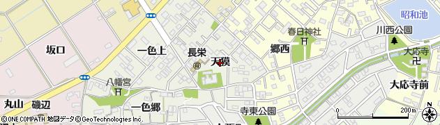 愛知県豊橋市一色町(天獏)周辺の地図
