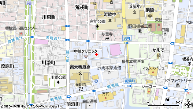 〒662-0943 兵庫県西宮市建石町の地図
