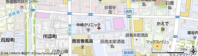 兵庫県西宮市建石町周辺の地図