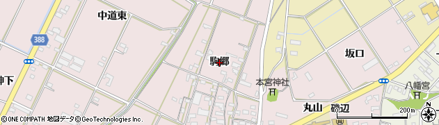 愛知県豊橋市駒形町(駒郷)周辺の地図