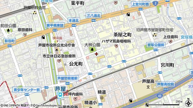 〒659-0066 兵庫県芦屋市大桝町の地図