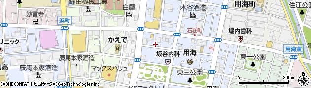 兵庫県西宮市久保町周辺の地図