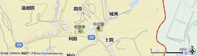 中之院周辺の地図