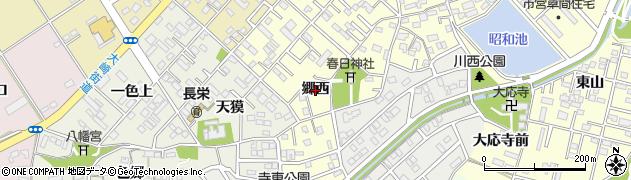 愛知県豊橋市草間町(郷西)周辺の地図