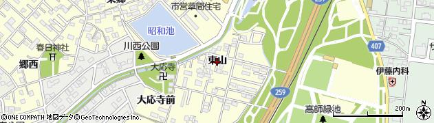 愛知県豊橋市草間町(東山)周辺の地図