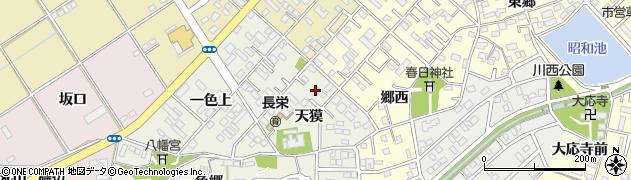 愛知県豊橋市一色町周辺の地図