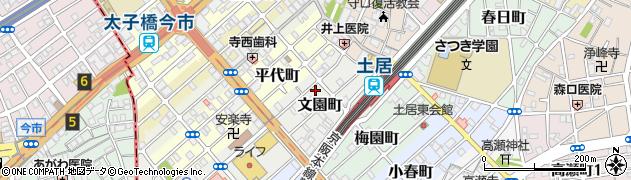 大阪府守口市文園町周辺の地図