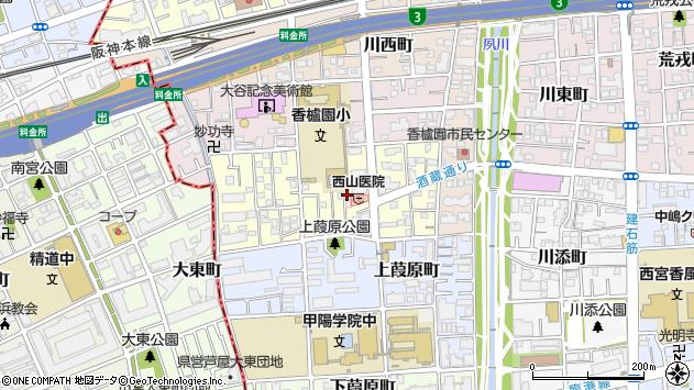 〒662-0953 兵庫県西宮市堀切町の地図