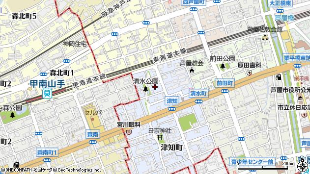 〒659-0076 兵庫県芦屋市清水町の地図