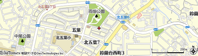 鈴蘭台第1団地周辺の地図