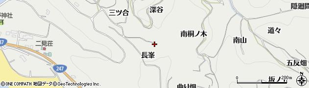 愛知県南知多町(知多郡)内海(長峯)周辺の地図
