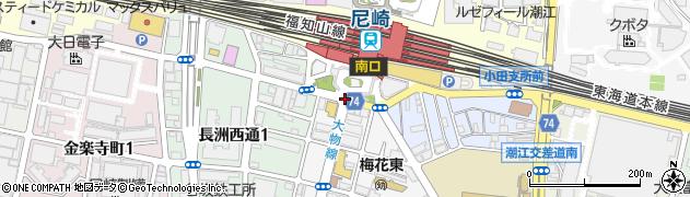 尼崎駅前周辺の地図