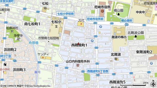 〒660-0893 兵庫県尼崎市西難波町の地図