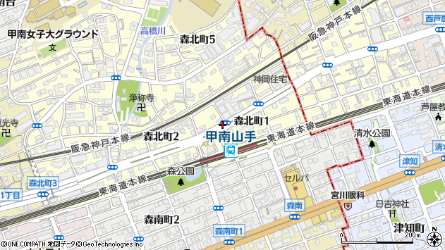 〒658-0001 兵庫県神戸市東灘区森北町の地図