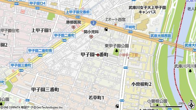 〒663-8171 兵庫県西宮市甲子園一番町の地図