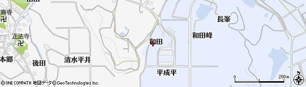 愛知県南知多町(知多郡)大井(和田)周辺の地図