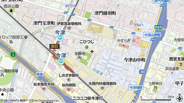 〒663-8245 兵庫県西宮市津門呉羽町の地図
