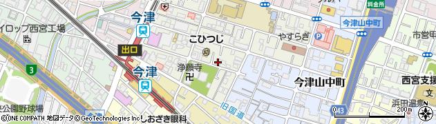 兵庫県西宮市津門呉羽町周辺の地図