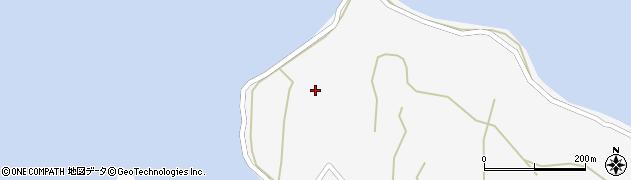 愛知県西尾市一色町佐久島(小浜)周辺の地図