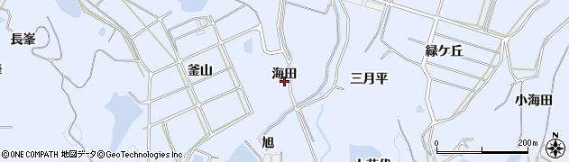 愛知県南知多町(知多郡)大井(海田)周辺の地図