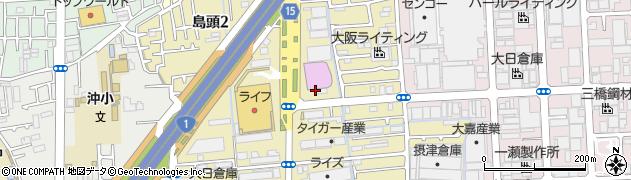 大阪府門真市島頭周辺の地図
