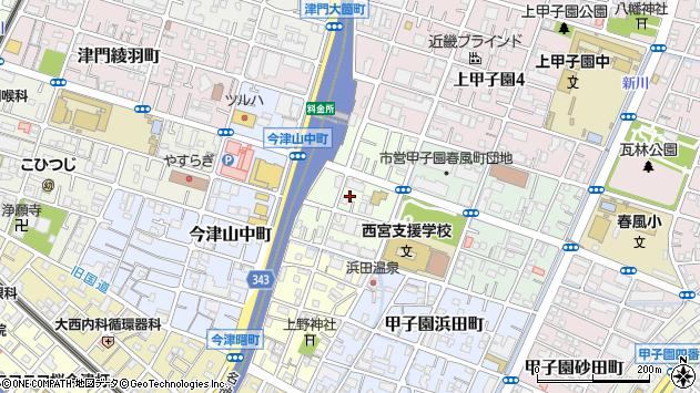 〒663-8212 兵庫県西宮市今津野田町の地図