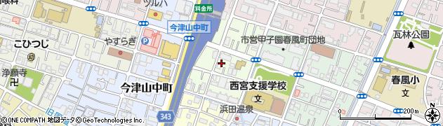 兵庫県西宮市今津野田町周辺の地図
