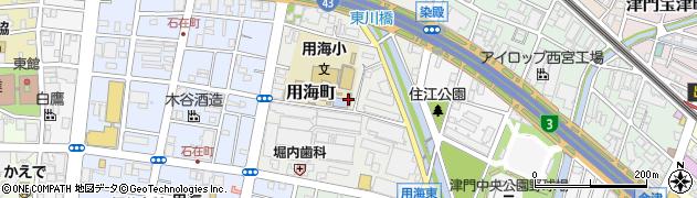 兵庫県西宮市用海町周辺の地図