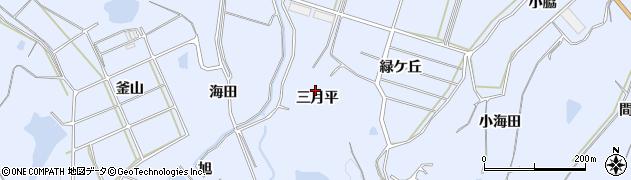 愛知県南知多町(知多郡)大井(三月平)周辺の地図