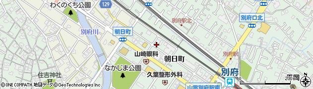 兵庫県加古川市別府町(朝日町)周辺の地図