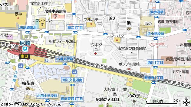 〒661-0967 兵庫県尼崎市浜の地図