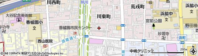 兵庫県西宮市川東町周辺の地図