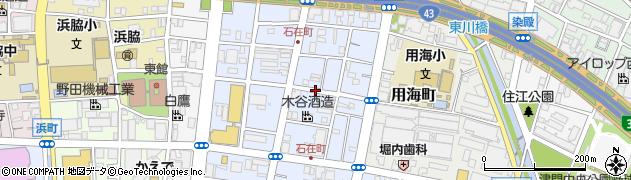兵庫県西宮市石在町周辺の地図