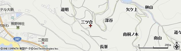 愛知県南知多町(知多郡)内海(三ツ合)周辺の地図