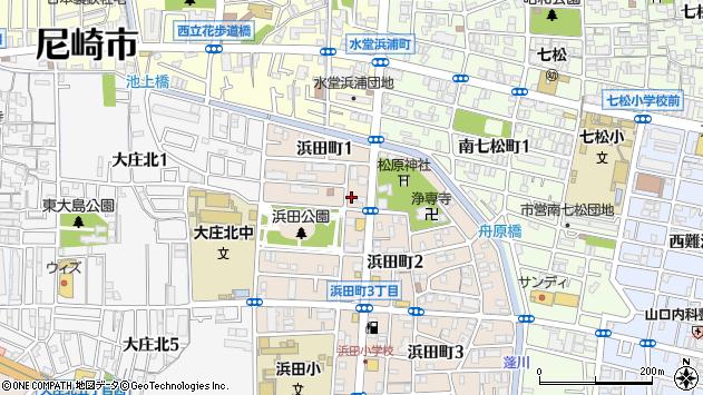 〒660-0062 兵庫県尼崎市浜田町の地図