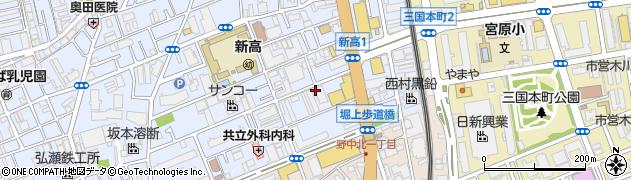 大阪府大阪市淀川区新高1丁目周辺の地図