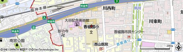 兵庫県西宮市中浜町周辺の地図