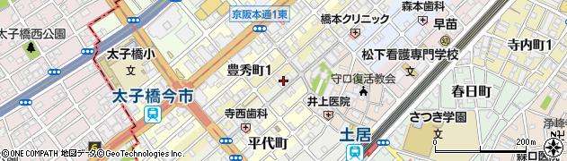 大阪府守口市金下町周辺の地図