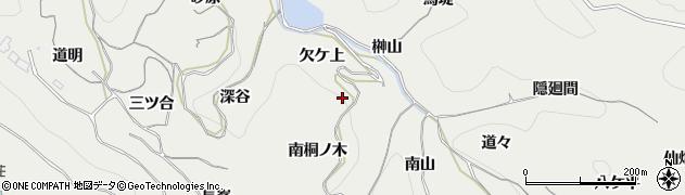 愛知県南知多町(知多郡)内海(欠ケ上)周辺の地図