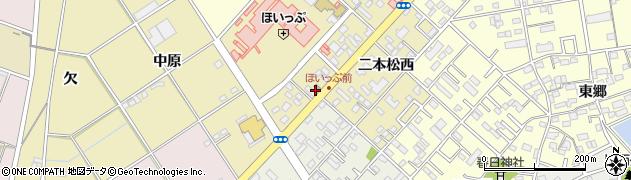愛知県豊橋市中野町周辺の地図