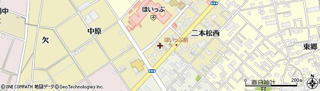 愛知県豊橋市中野町(野中)周辺の地図