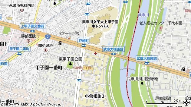 〒663-8122 兵庫県西宮市小曽根町の地図