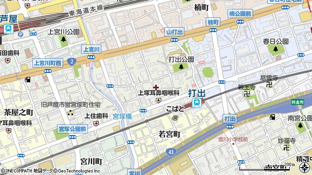 〒659-0028 兵庫県芦屋市打出小槌町の地図